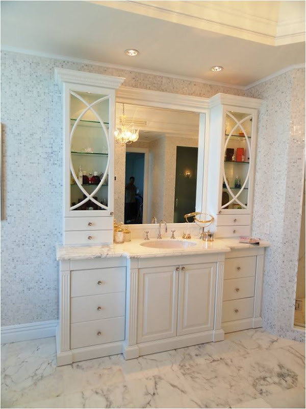 Custom Bath Double Vanity custom bathroom cabinets & vanities | dng