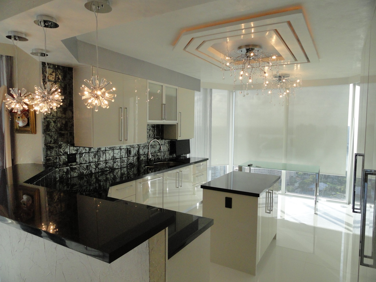 Kitchen with Ceiling Detail