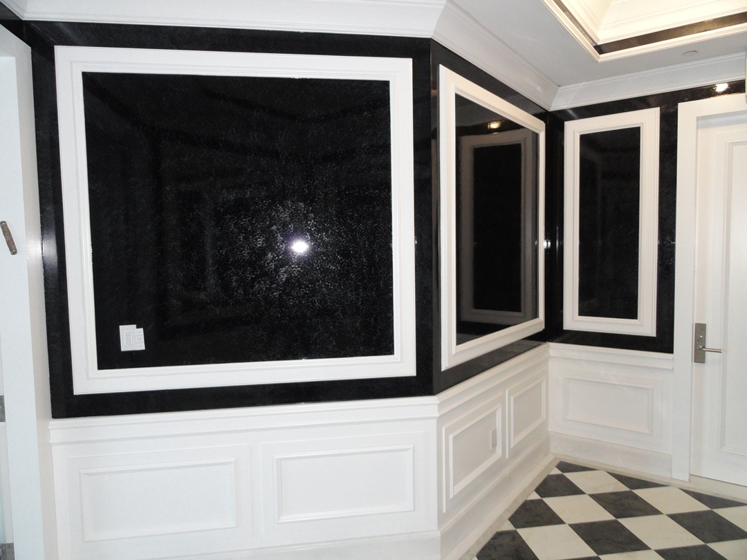 Black and White Art Deco Paneling