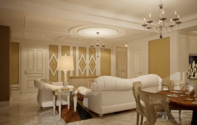 Decorative Doors and Ceiling Medallion