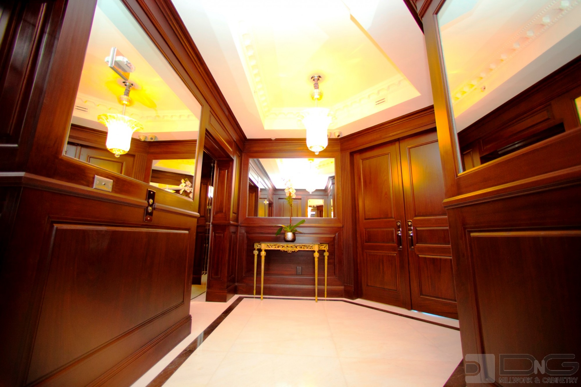 Paneled and Mirror Reception