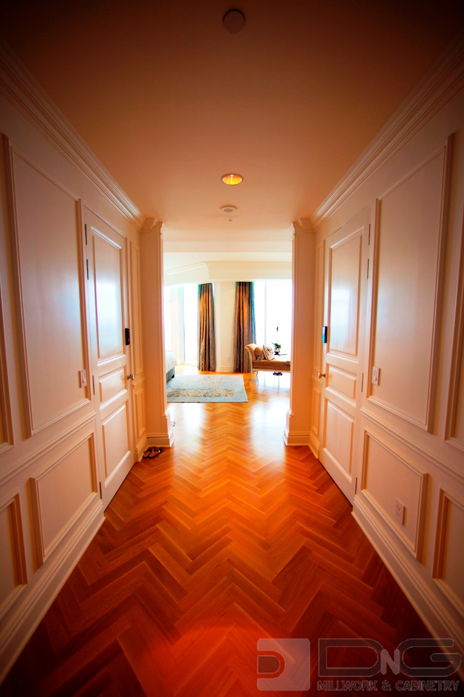 Elegant Paneled Entry Hall