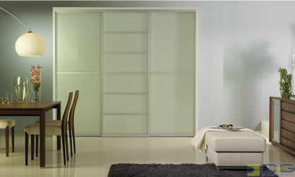 Frosted Glass Multi Panel Sliding Doors Dng